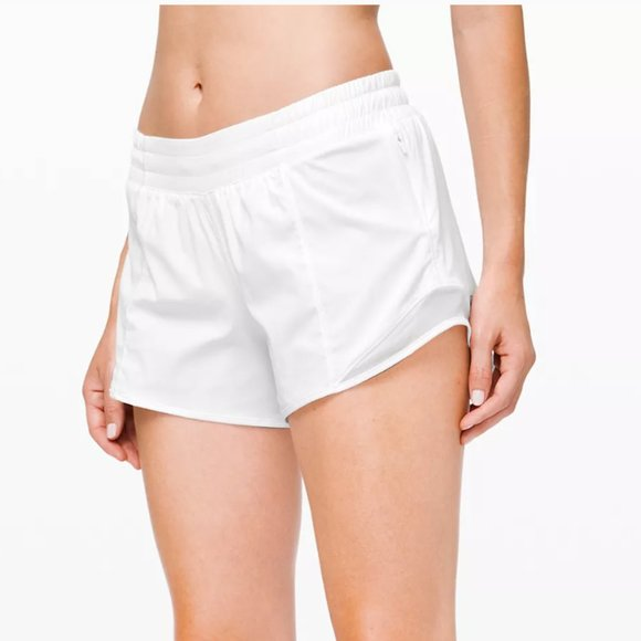 Lululemon White Hotty Hot Shorts 4""